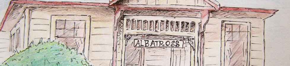 Drawing of the albatross hostel